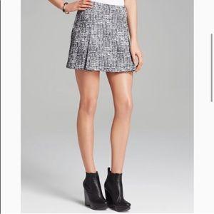 Joie Tweed Mini Skirt Caviar Grey